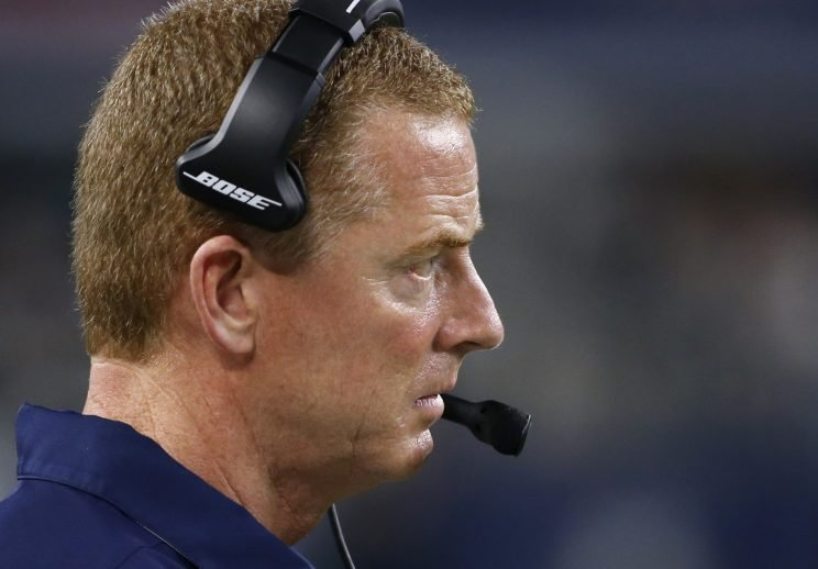 Jason Garrett cut two players in 2015 over dress-code violations. (AP)