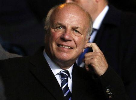 English Football Association chairman Greg Dyke attends the international friendly soccer match between Scotland and England at Celtic Park Stadium in Glasgow