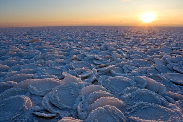 The beautiful photo of Lake Onega was taken by Igor Podgorny in Russia (Caters)