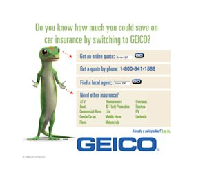 12 Tests to Increase Your Landing Page Conversion Rate, Starting Today image geico implicit directional cues
