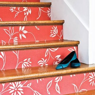 Wallpaper Stair Treads