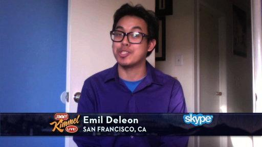 Jimmy Kimmel Interviews Wheel of Fortune Winner Emil Deleon
