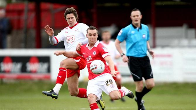 Michael Liddle, left, jumped at the chance to rejoin Accrington