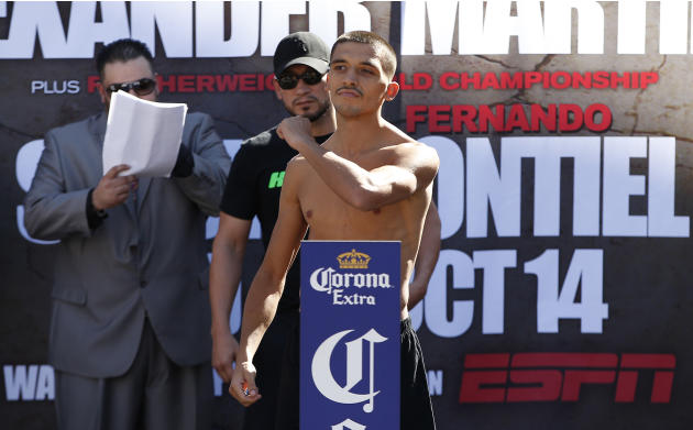 Lee Selby during the weigh in