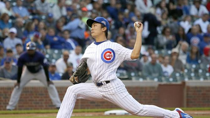 Wada earns 1st MLB win as Cubs beat Rockies