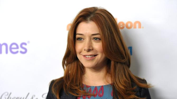 """FILE - This Dec. 7, 2012 file photo shows actress Alyson Hannigan from the CBS comedy, """"How I Met Your Mother,"""" at the March of Dimes Celebration of Babies  in Beverly Hills, Calif.  A judge has ordered a New Hampshire man to stay away from Alyson Hannigan and refrain from posting about the actress for the next three years. (Photo by John Shearer/Invision/AP, file)"""