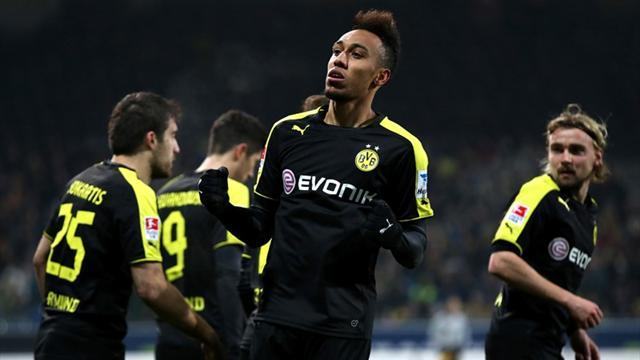 Bundesliga - Aubameyang double hands Dortmund win at Braunschweig