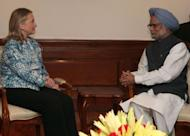 US Secretary of State, Hillary Clinton (L) meets with Indian prime minister Manmohan Singh in New Delhi. Relations between Delhi and Washington were reset by then US president Bill Clinton in the 1990s and invigorated by his successor George W. Bush, who signed a landmark nuclear energy deal that was meant to hand business to US companies