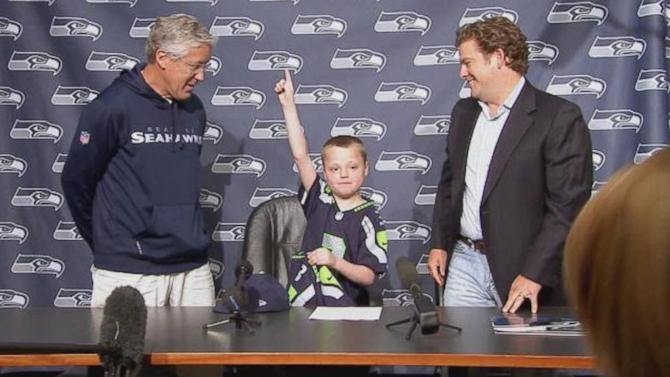 Super Bowl-Bound Seahawks Make One Child's Wish Come True