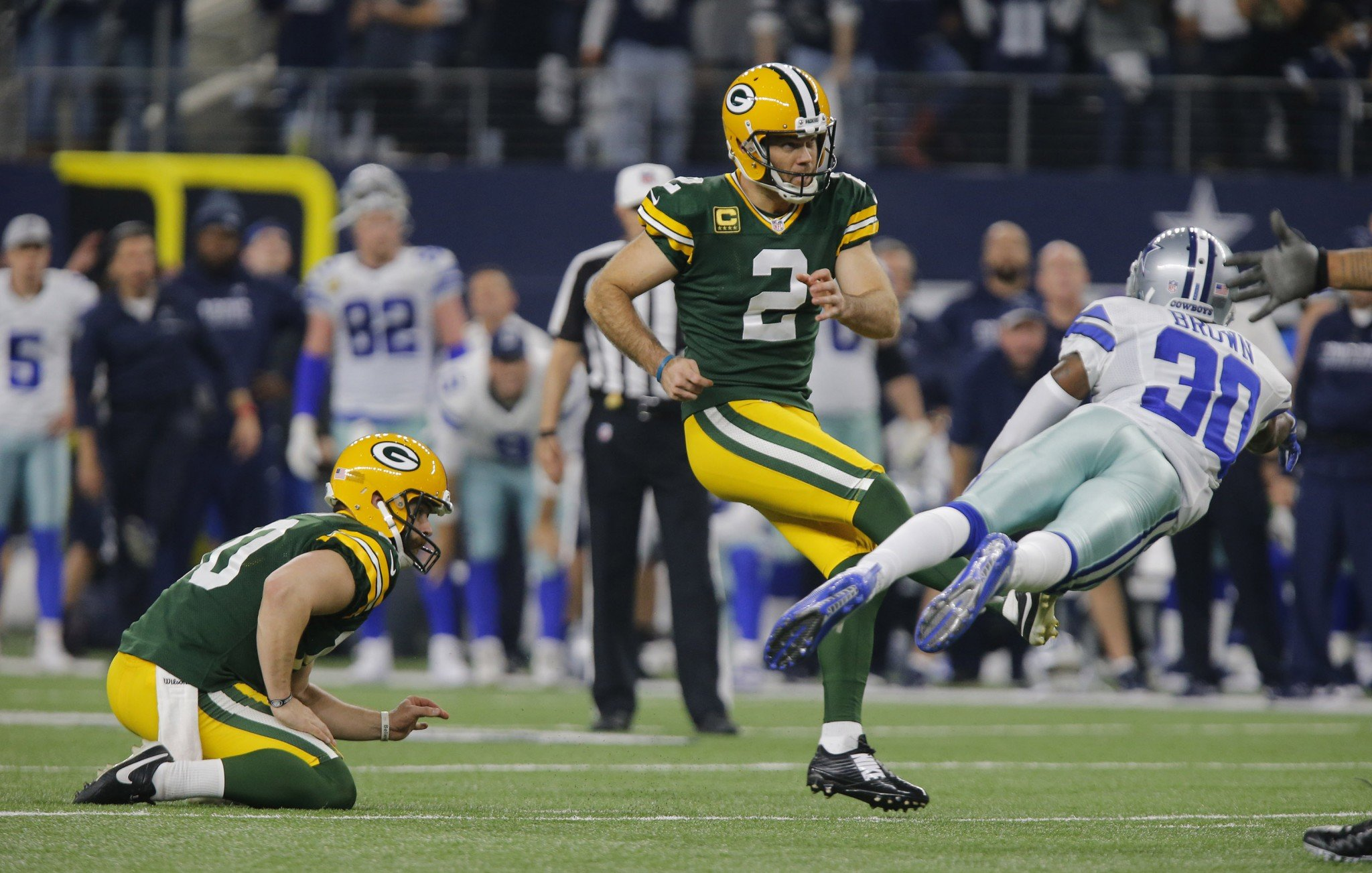 The Packers' win over the Cowboys was the most-watched NFL divisional round playoff game in 20 years. (Getty Images)