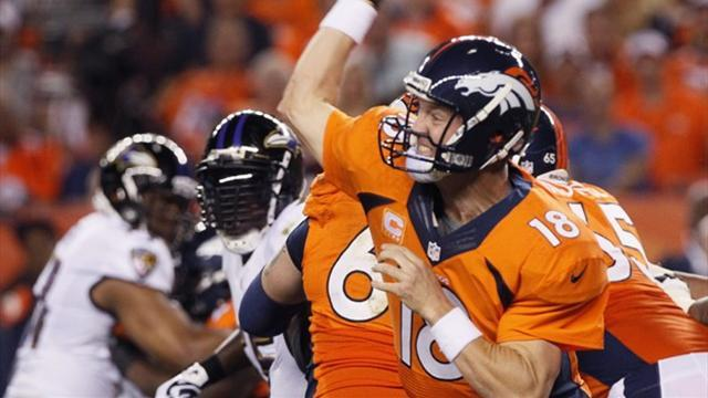 American Football - Manning throws 7 TDs as Broncos trample Ravens
