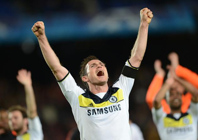 Chelsea's Midfielder Frank Lampard Celebrates AFP/Getty Images