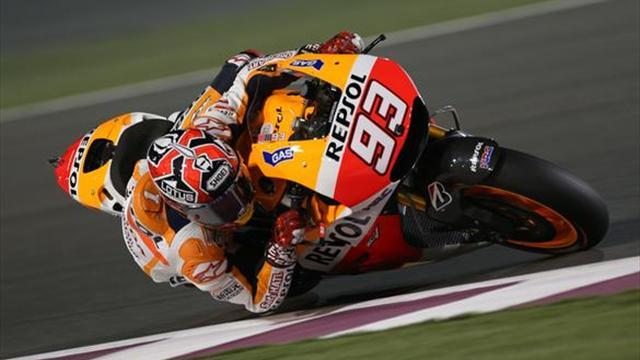 Motorcycling - MotoGP Qatar: Marquez snatches pole as Espargaro crashes