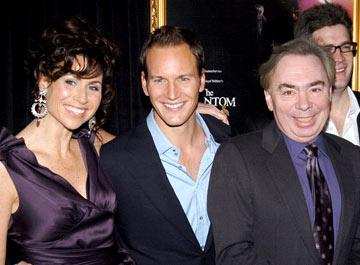 Minnie Driver , Patrick Wilson and composer Andrew Lloyd Webber at the New York premiere of Warner Brothers' Andrew Lloyd Webber's The Phantom of the Opera