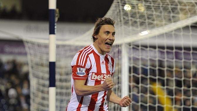 Dean Whitehead was on target as Stoke claimed three points from their trip to West Brom
