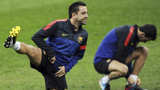 Liga - Xavi sidelined for Rayo game with hamstring problem
