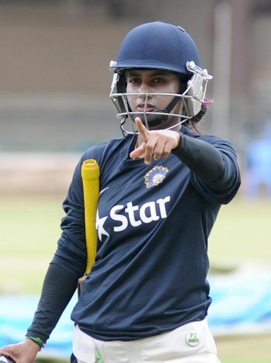 Bengaluru: Indian women cricket captain Mithali Raj during the practice session at the M Chinnaswammy Stadium in Bengaluru on June 30, 2015. (Photo: IANS)