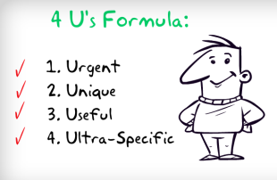 4 U's of Web Copywriting: Tips for Writing Great Headlines & Copy image the 4us formula