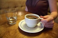 A cup of coffee is pictured on July 5, 2012 at a cafe in a Paris