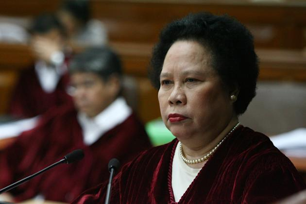 "After missing the first four days of the impeachment trial due to hypertension, Santiago saw to it that she arrived with a bang.""I suffered from terminal boredom both from watching the impeachment trial on TV and from staying at home. It has been a display of legal ignorance that's why the trial has been taking so long.""Related Stories:Miriam Santiago faces ethics complaint over expletiveFirebrand Filipino senator heats up virtual world, too"