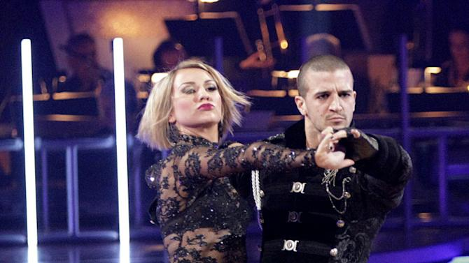 """Chelsea Kane and Mark Ballas perform on """"Dancing with the Stars."""""""