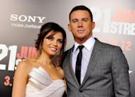 Channing Tatum and his wife Jenna Dewan arrive at the premiere of '21 Jump Street' on March 13. 2012 in Los Angeles -- Getty Images