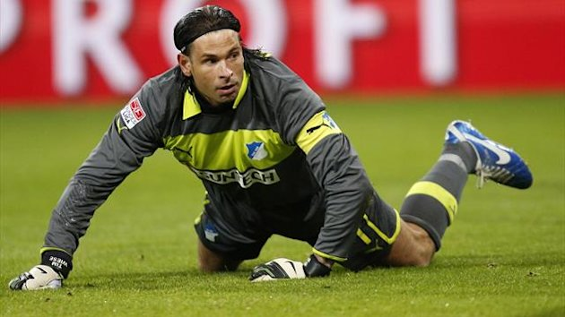 Hoffenheim's goalkeeper Tim Wiese reacts (Reuters)