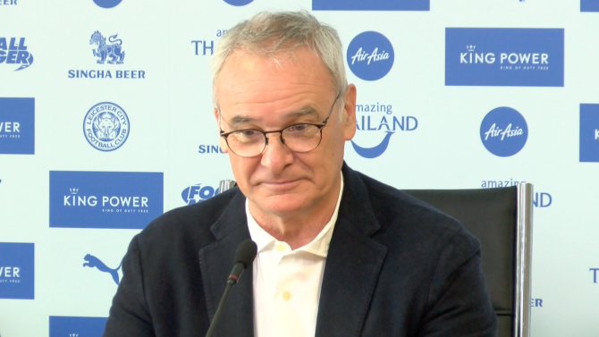 Ranieri says his fans must dream but his team must remain focused as they prepare to face Manchester United.