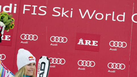 Lindsey Vonn Of The US Reacts  (Photo By Jonathan Nackstrand/AFP/Getty Images) AFP/Getty Images