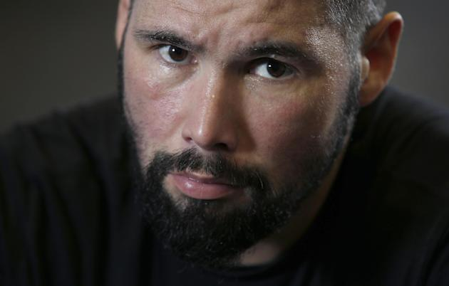 Tony Bellew poses after training