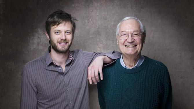 "From left, director G.J. Echternkamp and producer Roger Corman from the film ""Virtually Heroes"" pose for a portrait during the 2013 Sundance Film Festival on Sunday, Jan. 20, 2013 in Park City, Utah. (Photo by Victoria Will/Invision/AP Images)"