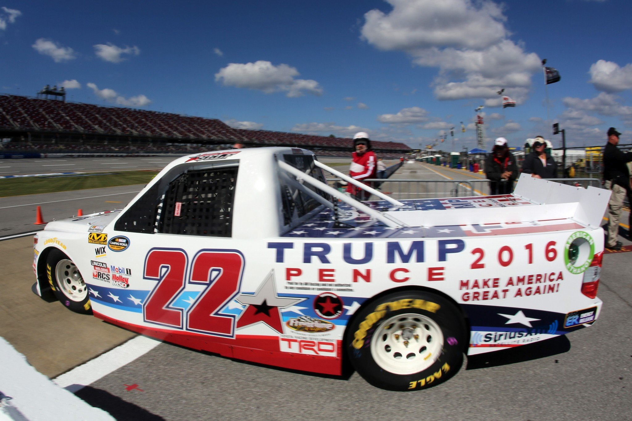 The Trump truck will be back at Homestead. (Getty)