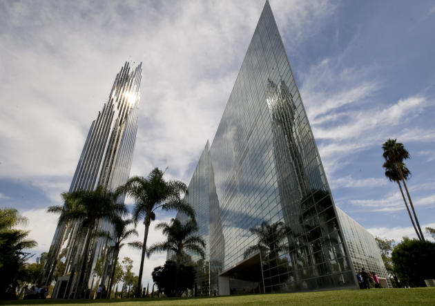 FILE - This Oct. 24, 2010 file photo shows the sun reflecting off the Crystal Cathedral in Garden Grove, Calif.The bidding war has intensified for the site of Orange County's famed Crystal Cathedral M