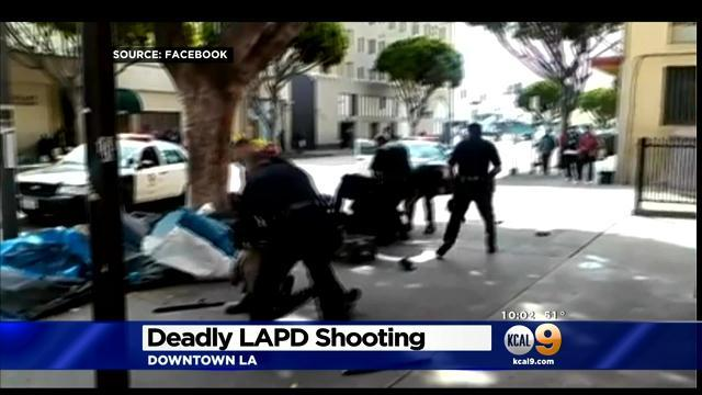 Video shows Los Angeles police shooting homeless man dead