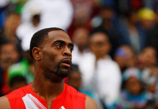 Tyson Gay's 2011 season ended in July when he had arthroscopic surgery to repair a torn labrum muscle in his hip