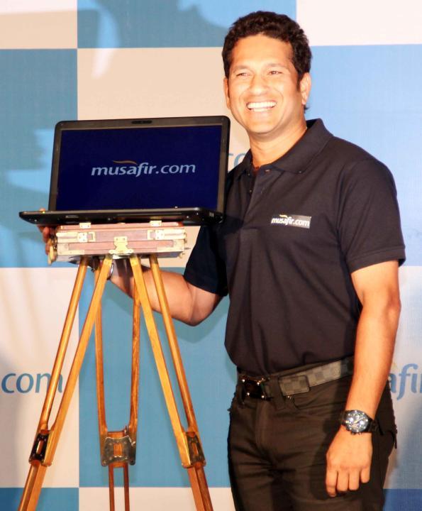 Sachin Tendulkar seen at a product launch