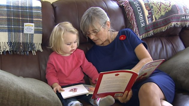 Former teacher Fran Albrecht is upset by the Remembrance Day book decision. (CBC)