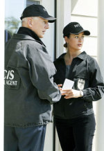 Mark Harmon and Cote de Pablo | Photo Credits: Cliff Lipson/CBS
