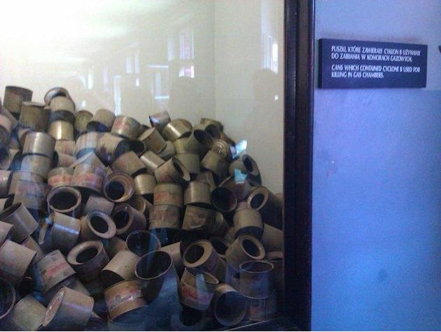 Used cans of poison gas