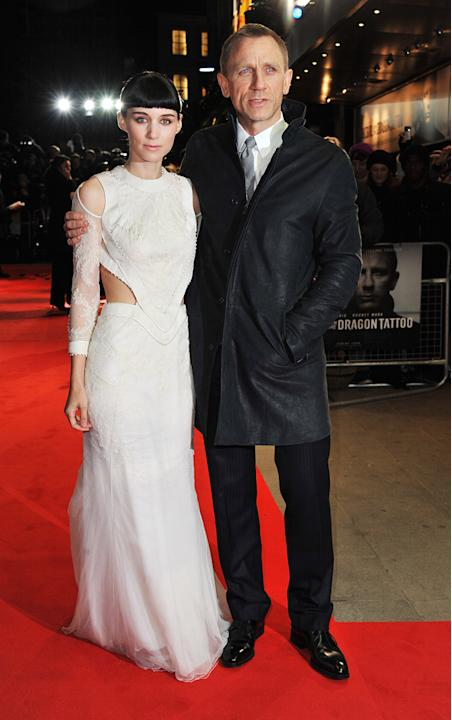 The Girl with the Dragon Tattoo 2011 UK Premiere Rooney Mara Daniel Craig
