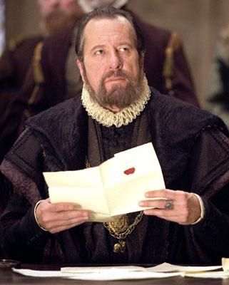 Geoffrey Rush as Sir Francis Walsingham in Universal Pictures' Elizabeth: The Golden Age