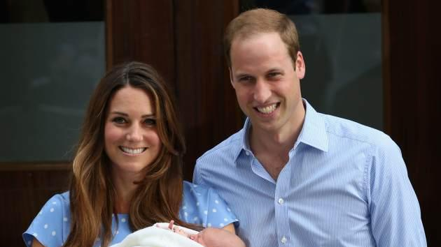 Prince William, Duke of Cambridge and Catherine, Duchess of Cambridge, depart The Lindo Wing with their newborn son at St Mary's Hospital on July 23, 2013 in London -- Getty Images