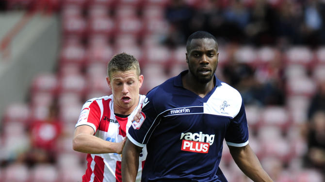 Millwall's Dany N'Guessan, right, has been linked to a move back to Charlton