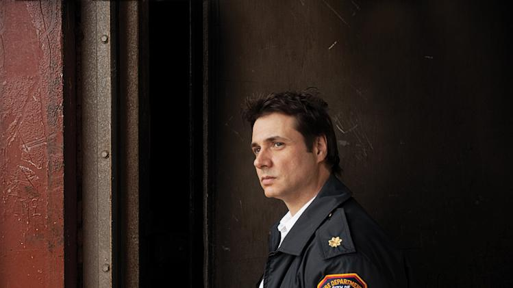 "Adam Ferrara as needles on ""Rescue Me."""