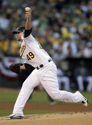 Anderson pitches A's past Tigers to avoid sweep