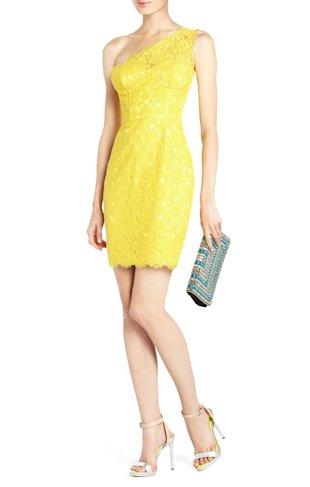 Arlena On-Shoulder Lace Cocktail Dress