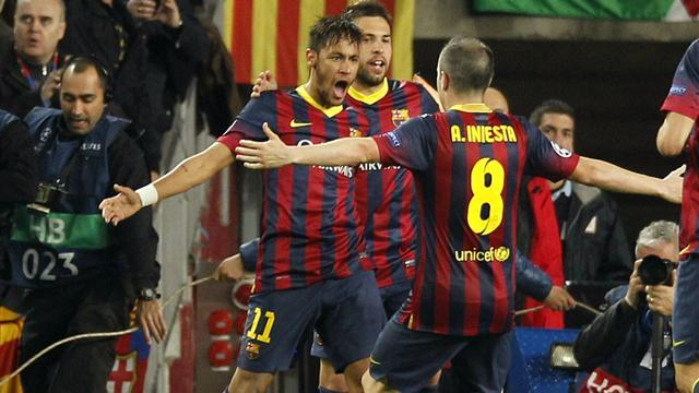 Champions League - Neymar saves day for Barca after Diego wonder strike