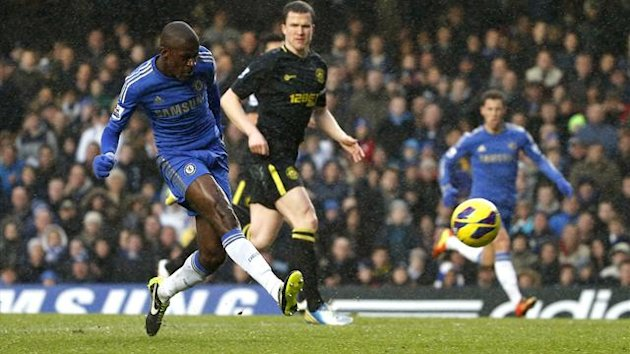 Chelsea's Ramires scores against Wigan (Reuters)