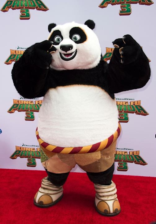 Po attends the Premiere of Kung Fu Panda 3, in Hollywood, California, on January 16, 2015
