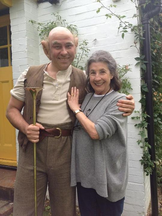 """Celebrity photos: David Walliams was keen to celebrate Roald Dahl's birthday, dressing up as the BFG. He tweeted this picture of himself in character alongside the caption: """"Me as the BFG with Roald's"""